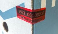Пломба-наклейка Щит 60х20 за 84 коп.